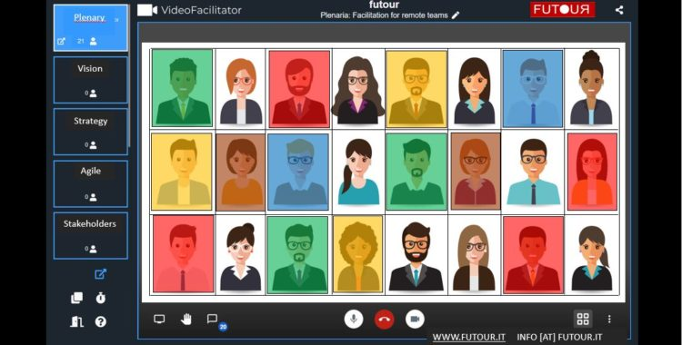 Virtual facilitation and training for remote teams